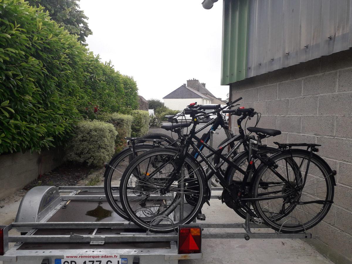 Kits support vélo pour remorque à monter soi-même