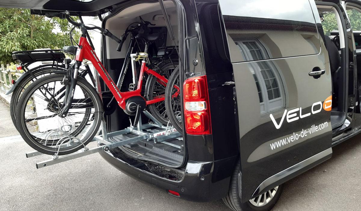 Support vélo à glissière à installer soi-même sur remorque ou autre véhicules pour le transport de vélo
