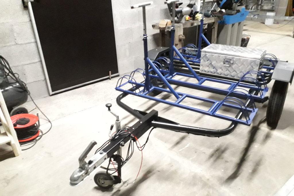 Remorque Adam - Location remorque vélo avec support vélo fixe