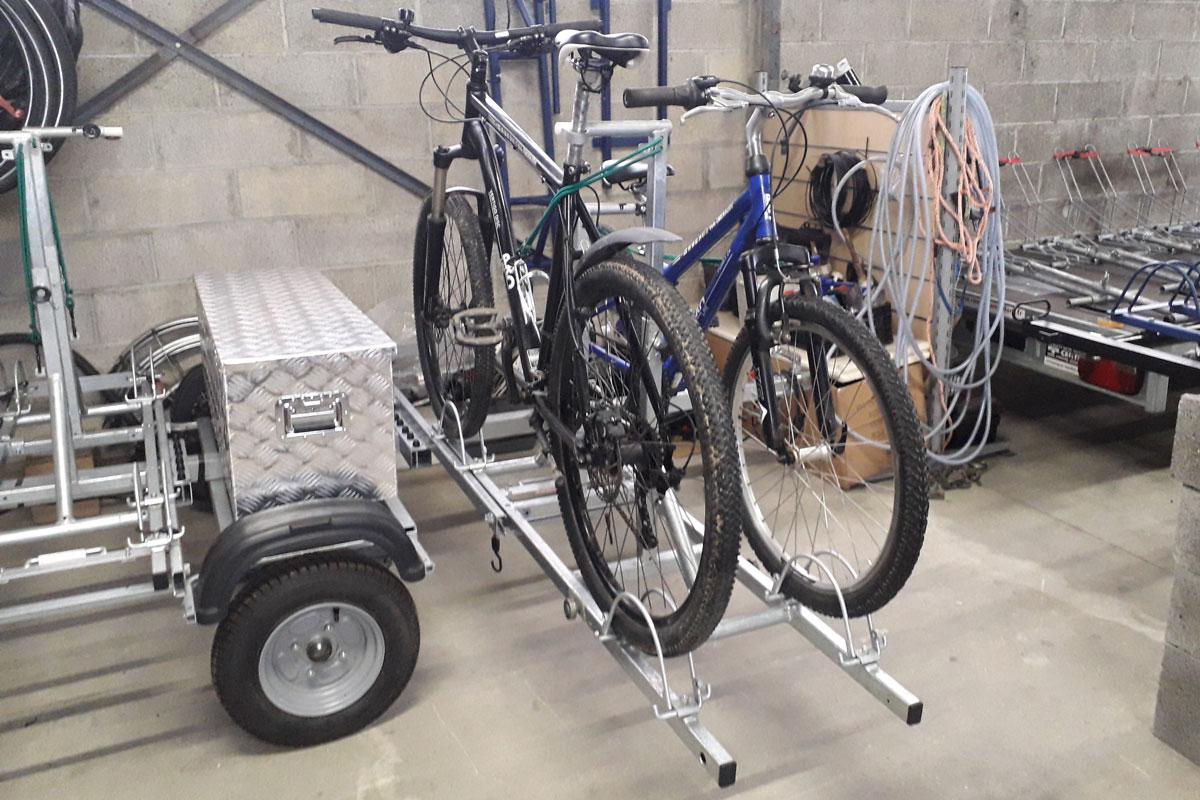 Remorque Adam - Remorque vélo avec support vélo à glissière